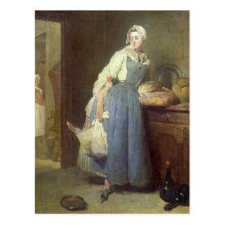 Cartão Postal A empregada doméstica com disposições, 1739 da