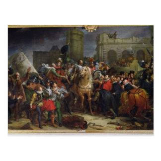 Cartão Postal A entrada de Henri IV em Paris