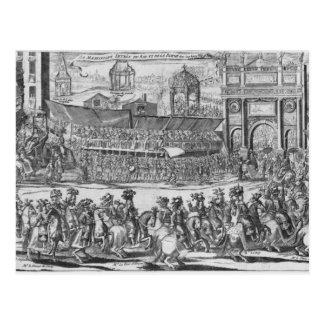 Cartão Postal A entrada de Louis XIV e de Marie-Therese