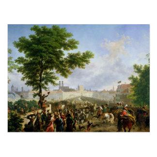 Cartão Postal A entrada de Napoleon Bonaparte