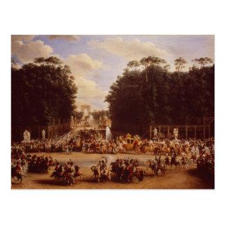 Cartão Postal A entrada de Napoleon e de Marie-Louise