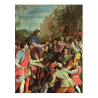 Cartão Postal A entrada do cristo em Jerusalem
