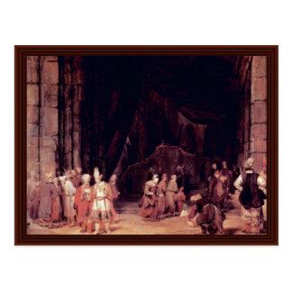 Cartão Postal A entrada Een do templo., por Aert De Gelder