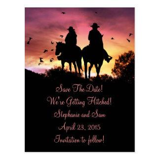 Cartão Postal A equitação da vaqueira e do vaqueiro salvar o