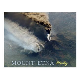 Cartão Postal A erupção vulcânica de Monte Etna em 2002