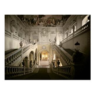 Cartão Postal A escadaria, construída 1719-44