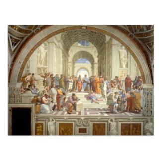 Cartão Postal A escola de Raphael de Atenas