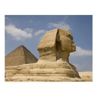 Cartão Postal A esfinge, Giza, Al Jizah, Egipto
