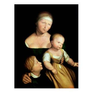 Cartão Postal A esposa do artista e as crianças, 1528