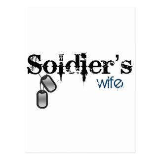 Cartão Postal A esposa do soldado