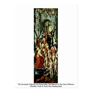 Cartão Postal A esquerda do Triptych do dia do julgamento final