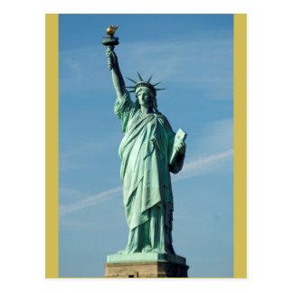 Cartão Postal A estátua da liberdade que ilumina o mundo