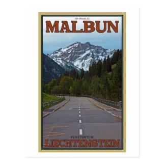 Cartão Postal A estrada a Malbun
