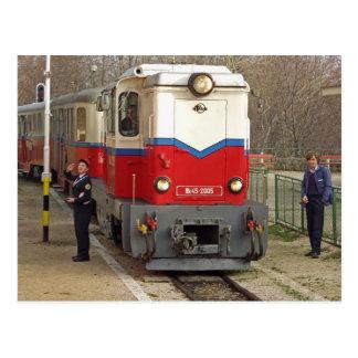 Cartão Postal A estrada de ferro das crianças, Budapest