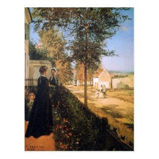 Cartão Postal A estrada de Versalhes por Camille Pissarro