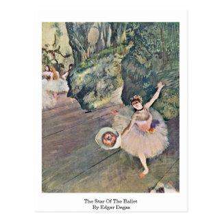Cartão Postal A estrela do balé por Edgar Degas