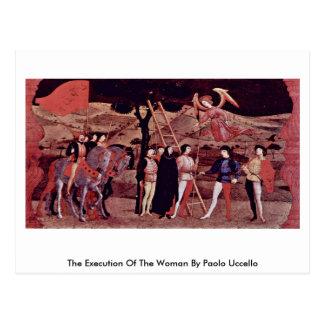 Cartão Postal A execução da mulher por Paolo Uccello