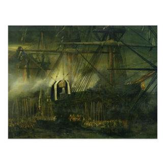 Cartão Postal A expedição das cinzas de Napoleon a bordo