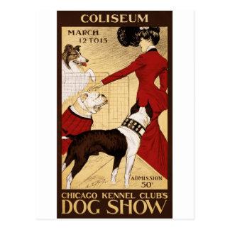 Cartão Postal A exposição de cães do clube do canil de Chicago,