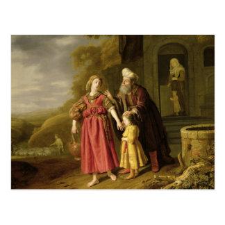 Cartão Postal A expulsão de Hagar e de Ishmael, c.1644