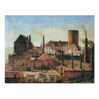 Cartão Postal A fábrica de Harkort no Burg mais molhado, c.1834