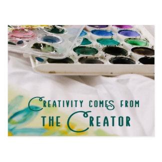 Cartão Postal A faculdade criadora vem do criador