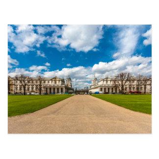 Cartão Postal A faculdade naval real velha, Greenwich,