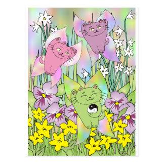 Cartão Postal A fada Nekos do primavera