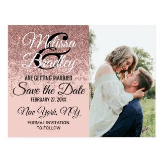 Cartão Postal A faísca cor-de-rosa do brilho do ouro cora