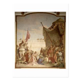 Cartão Postal A família de Darius antes de Alexander