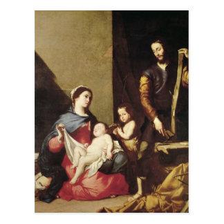 Cartão Postal A família santamente, 1639