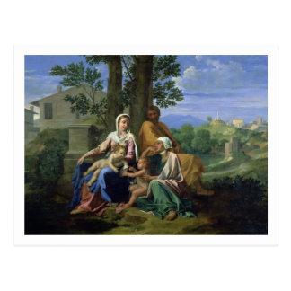 Cartão Postal A família santamente com SS. John, Elizabeth e o I