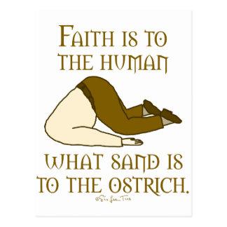 Cartão Postal A fé é areia