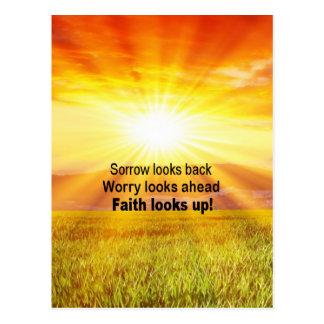 Cartão Postal A fé olha acima!