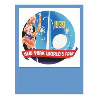 Cartão Postal A feira de mundo 1939 de New York