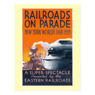Cartão Postal A feira de mundo, estradas de ferro de NYC no