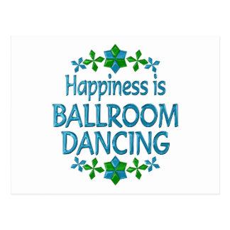 Cartão Postal A felicidade é dança de salão de baile