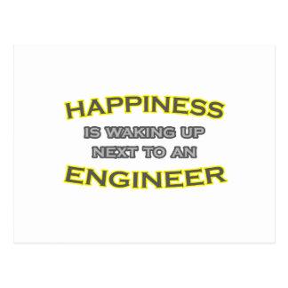 Cartão Postal A felicidade está acordando ao lado de um