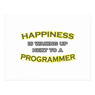 Cartão Postal A felicidade está acordando. Programador