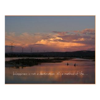 Cartão Postal A felicidade não é um destino, ele é…