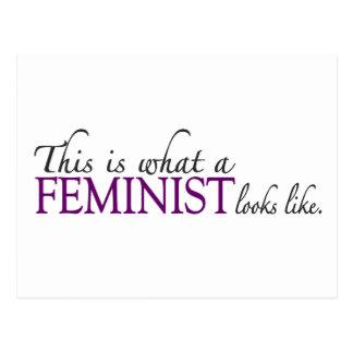 Cartão Postal A feminista olha o gosto