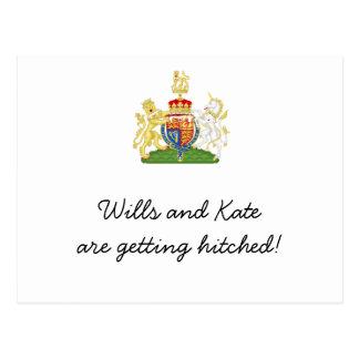 Cartão Postal A festa de casamento real do divertimento convida