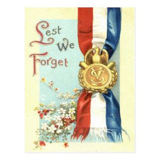 Cartão Postal A fim de que não nós esqueçamos o Memorial Day da
