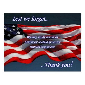 Cartão Postal A fim de que não nós esqueçamos… o obrigado você