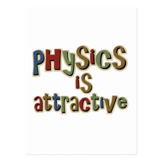 Cartão Postal A física é chalaça engraçada atrativa