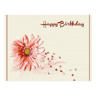 Cartão Postal A flora do feliz aniversario personaliza destinos