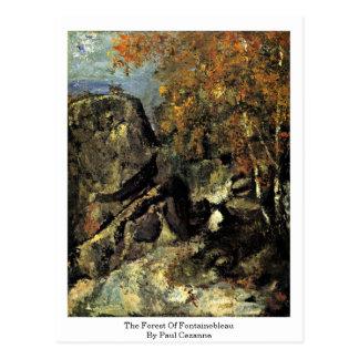 Cartão Postal A floresta de Fontainebleau por Paul Cezanne