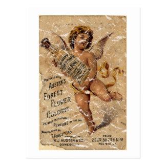 Cartão Postal A floresta Flower-1908 de Austen - afligida
