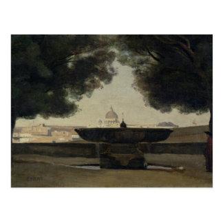 Cartão Postal A fonte da academia francesa em Roma