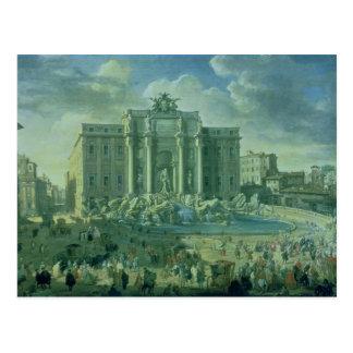 Cartão Postal A fonte do Trevi em Roma, 1753-56